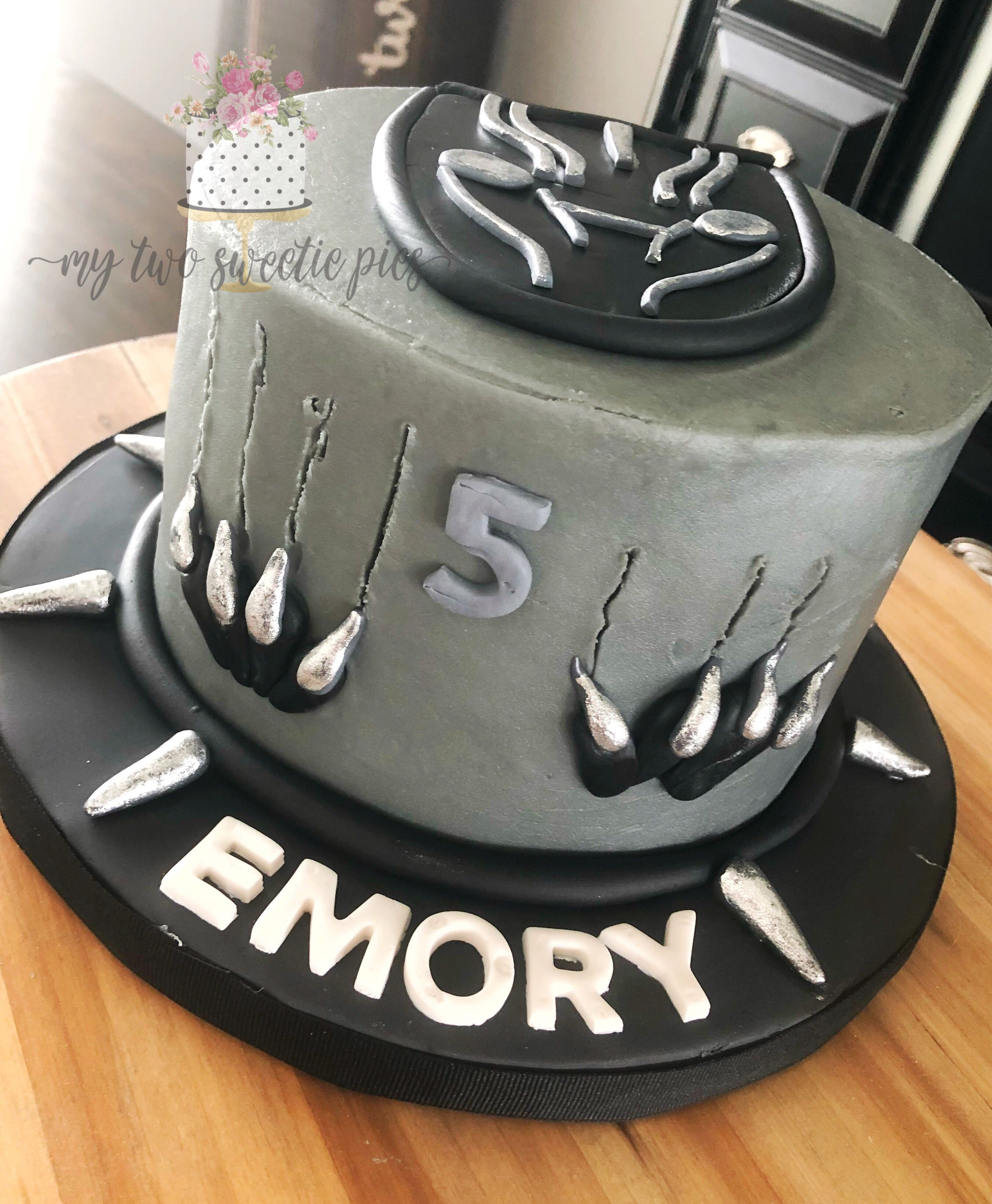 Black Panther With Images Birthday Party Cake Superhero