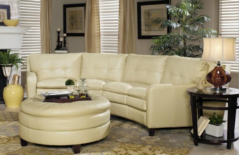 Meg Leather Conversation Sofa : Leather Furniture Expo