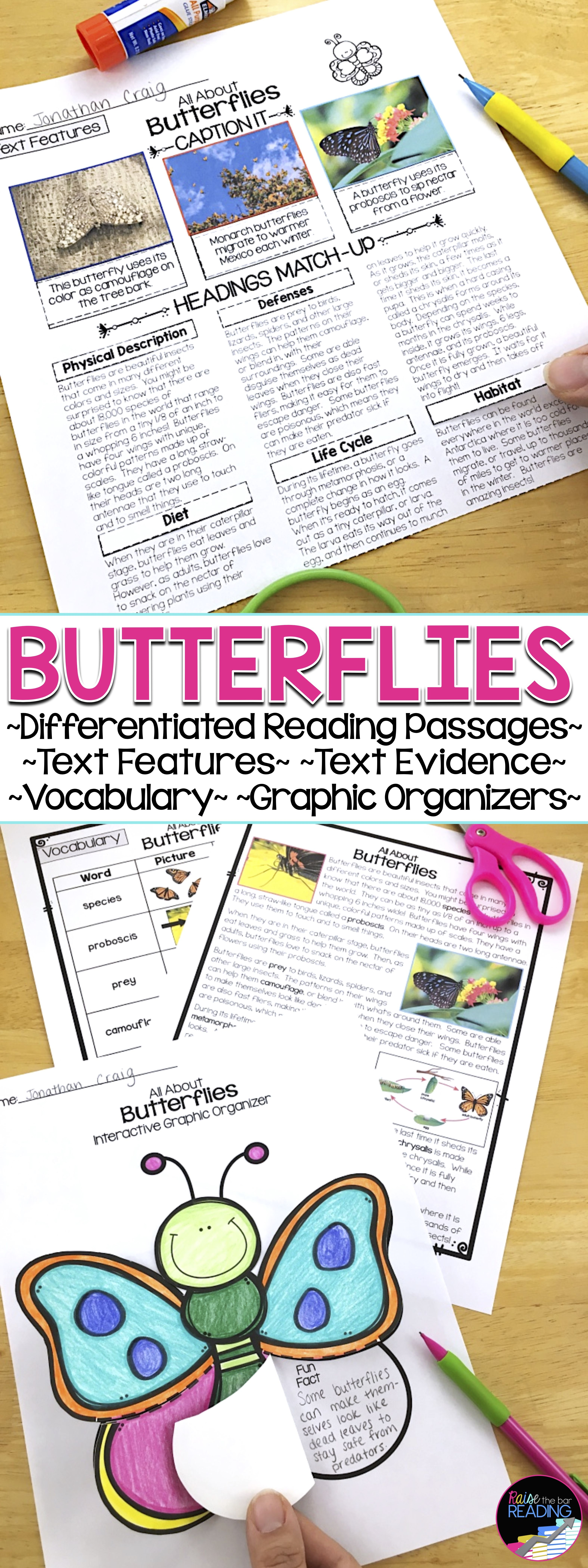 Butterflies Differentiated Reading Passages Grades 2 5 Perfect For Your Insects Unit Reading Passages Differentiated Reading Passages Differentiated Reading [ 8400 x 3149 Pixel ]