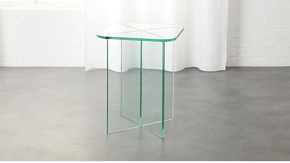 Verde Glass Side Table Cb2 Modern Side Table Glass Side