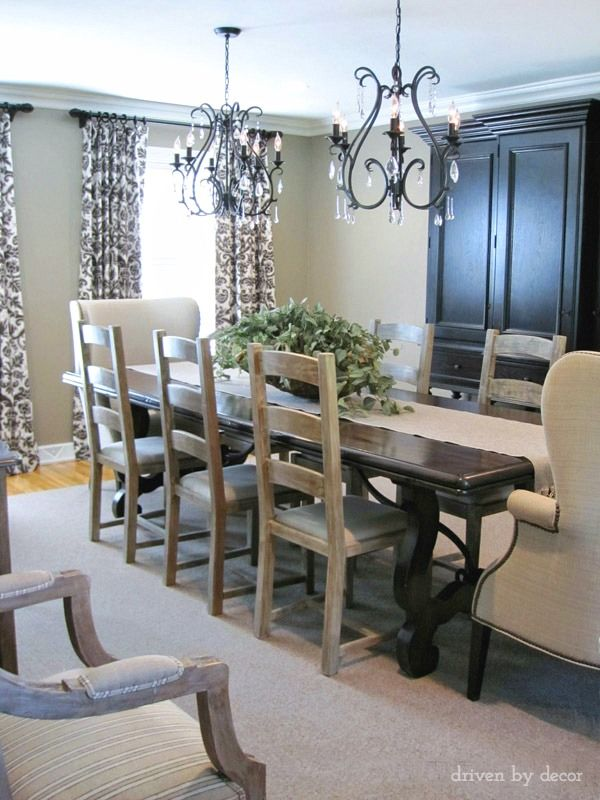 Drapery Panels for a Gray Dining Room Drapery panels, Window and Room - Beautiful Dining Rooms