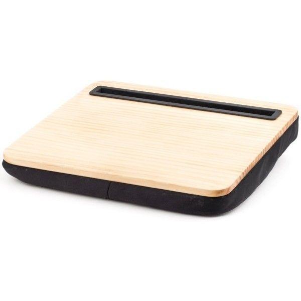 IBed Lap Desk Wood ($21) ❤ liked on Polyvore featuring home, furniture, desks, wood lap desk, kikkerland, wooden desk, wooden furniture and wood desk