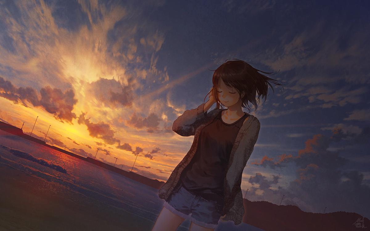 Картинки тишина аниме