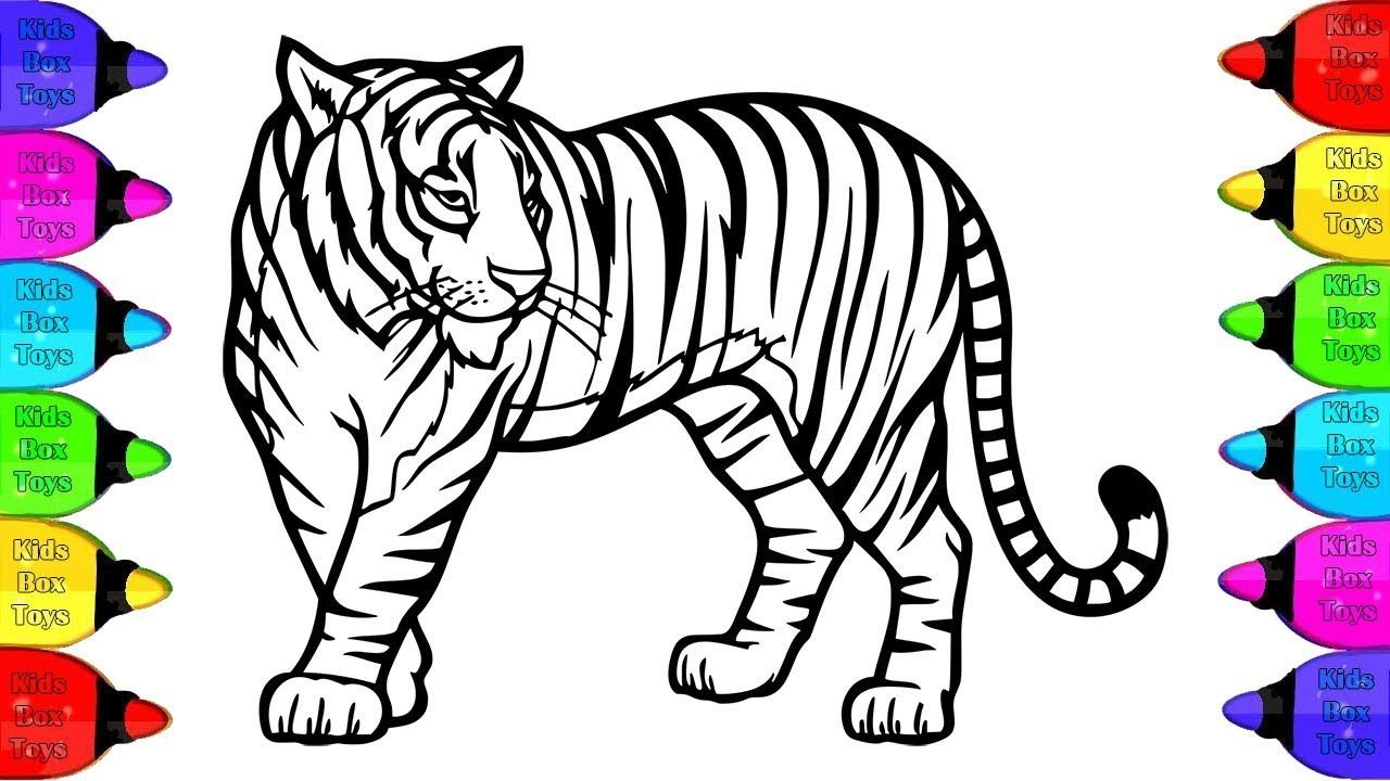 Preschool Tiger Coloring Pages For Kids - Learning How to Read