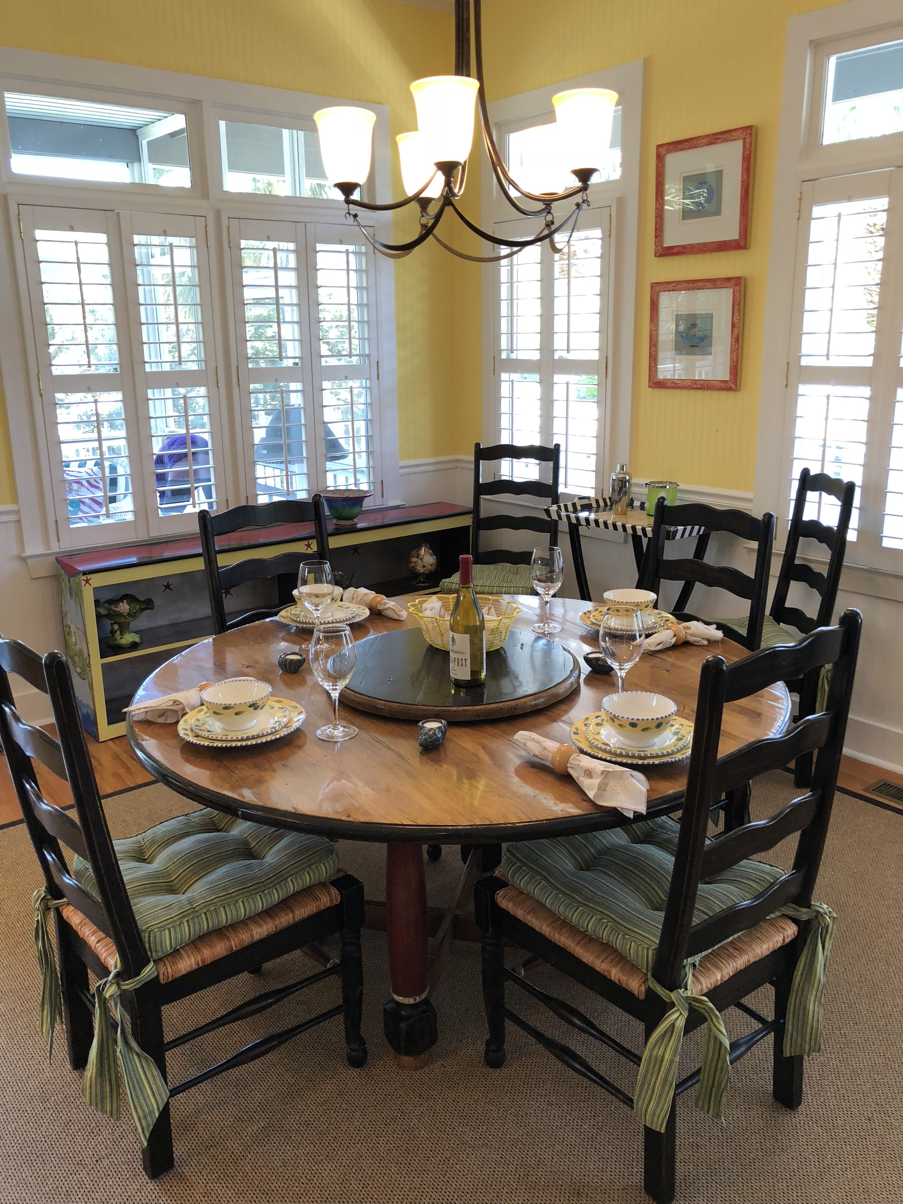 Dining Room   Compass Point Litchfield By The Sea Pawleys Island SC  Www.BeachAndGolfGetaway.