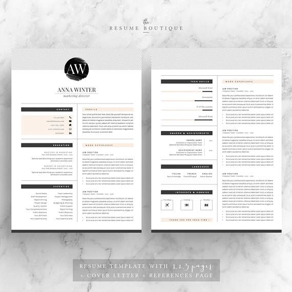 5 page resume template cv template cover letter references for promo code 2 resumes for 25 usd use code 2please use zoom to see more details welcome to the resume boutique we create templates that help you altavistaventures Choice Image