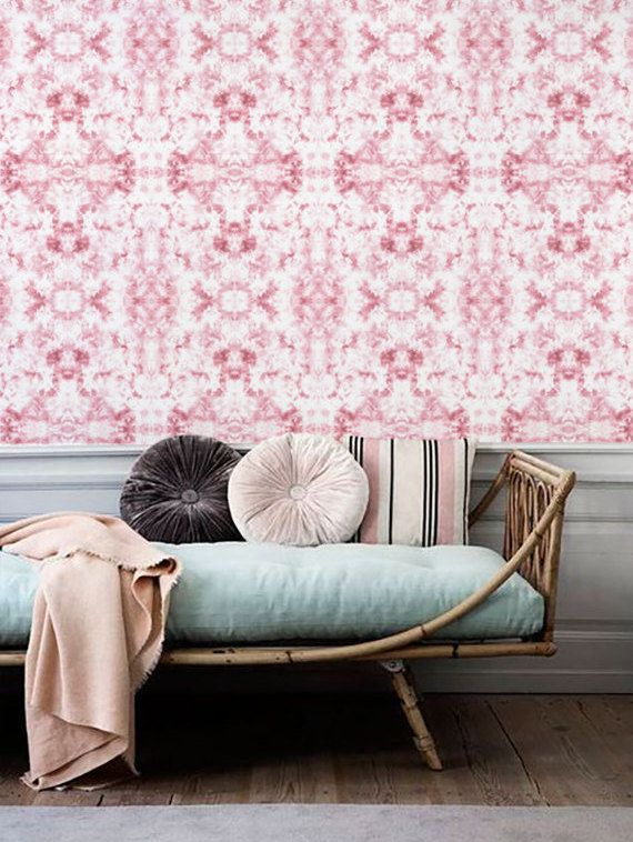 Pink Marble Wallpaper Removable Nursery Self Adhesive Pattern Wall Covering 002