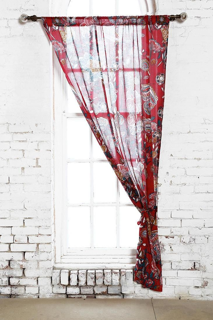 Magical Thinking Ruby Garden Curtain Urbanoutfitters Uohome Pinterest Gardens Jsp And