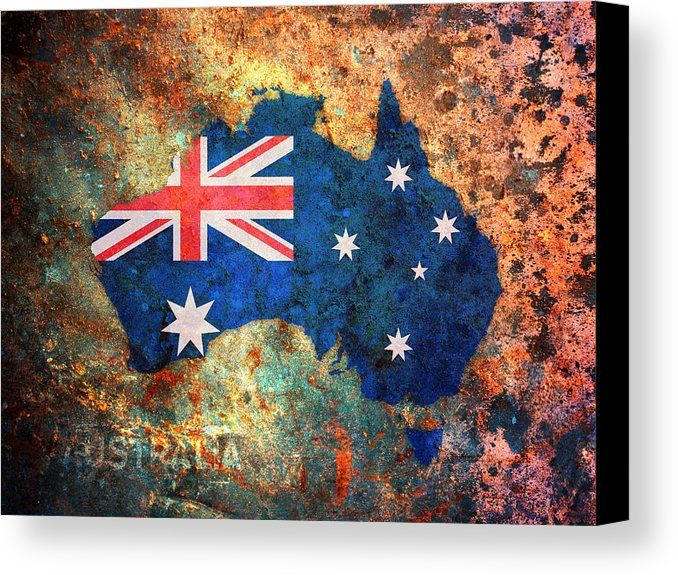 Australia flag map canvas print canvas art by michael tompsett australia flag map canvas print canvas art by michael tompsett gumiabroncs Image collections
