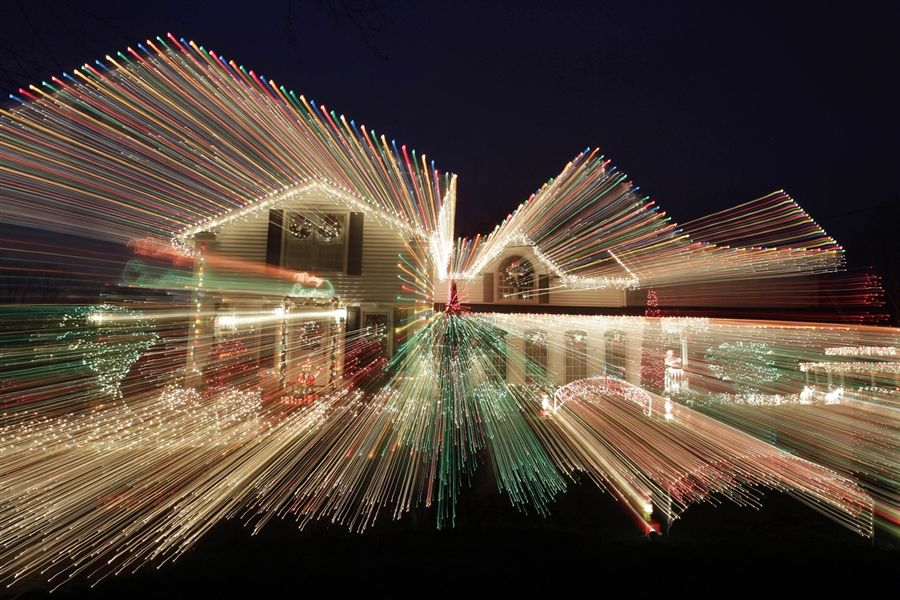 n this photo made using a long exposure and zooming the lens ...