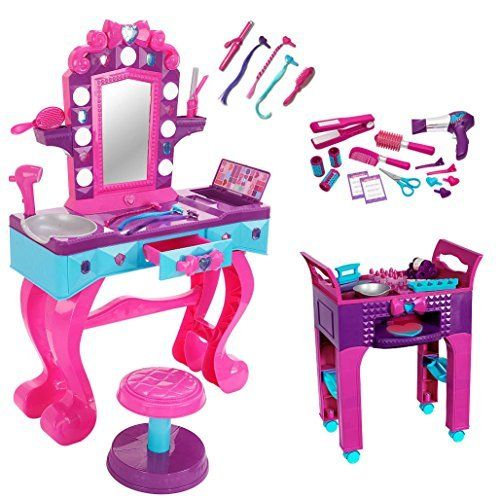 Ultimate Glam Hair Salon Vanity With Manicure Station And Hair Styling Set Check Out This Great Pr Glam Hair Salon Manicure Station American Girl Doll House