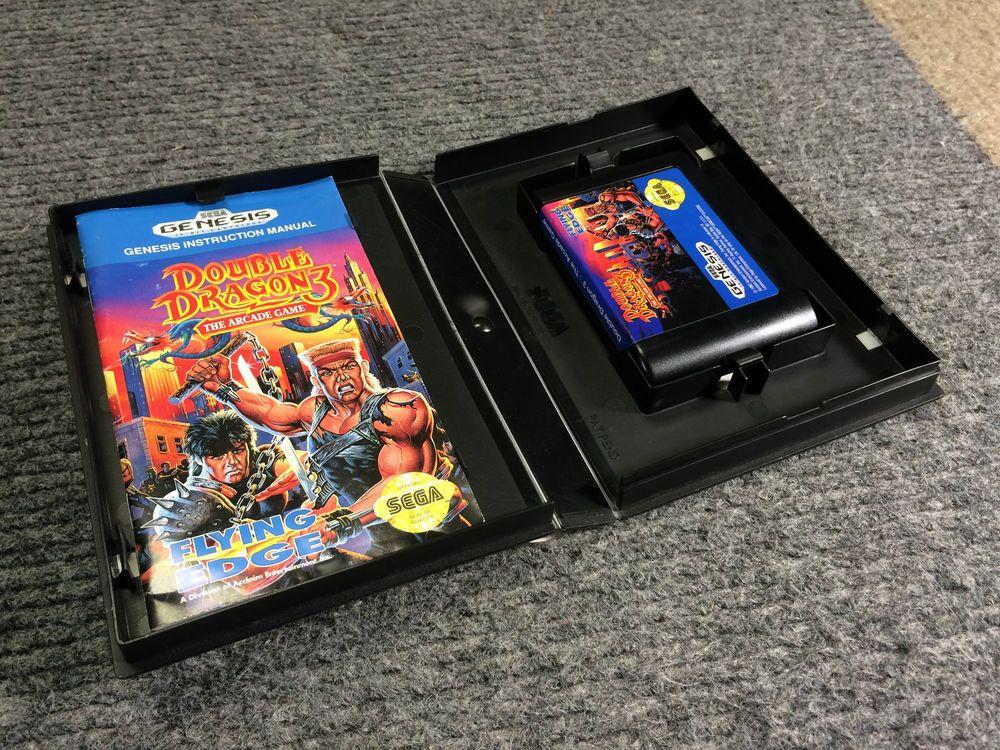Double Dragon 3 The Arcade Sega Genesis Game Complete Cib Works