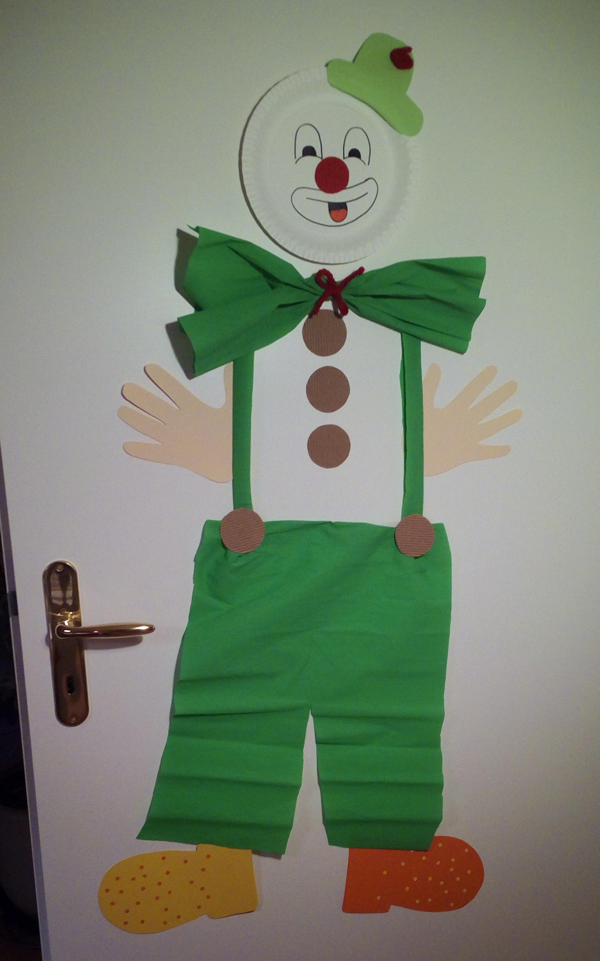 Clown Faschingsdekoration für die Tür basteln   MIFUS.de - DIY ...