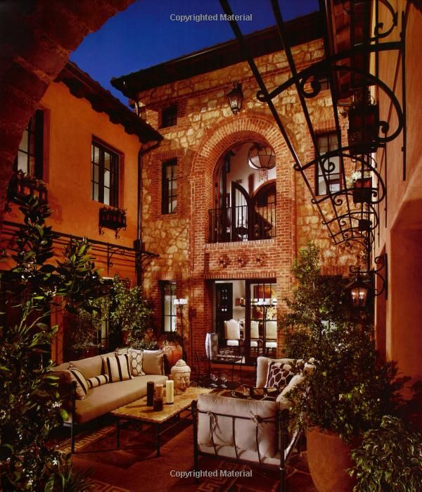 Mediterranean Style Courtyard: Amazon.com: Homes & Courtyards: 28 Beautifully Designed