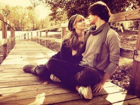 Blonde, couple, cute, eyes in eyes, love - inspiring picture