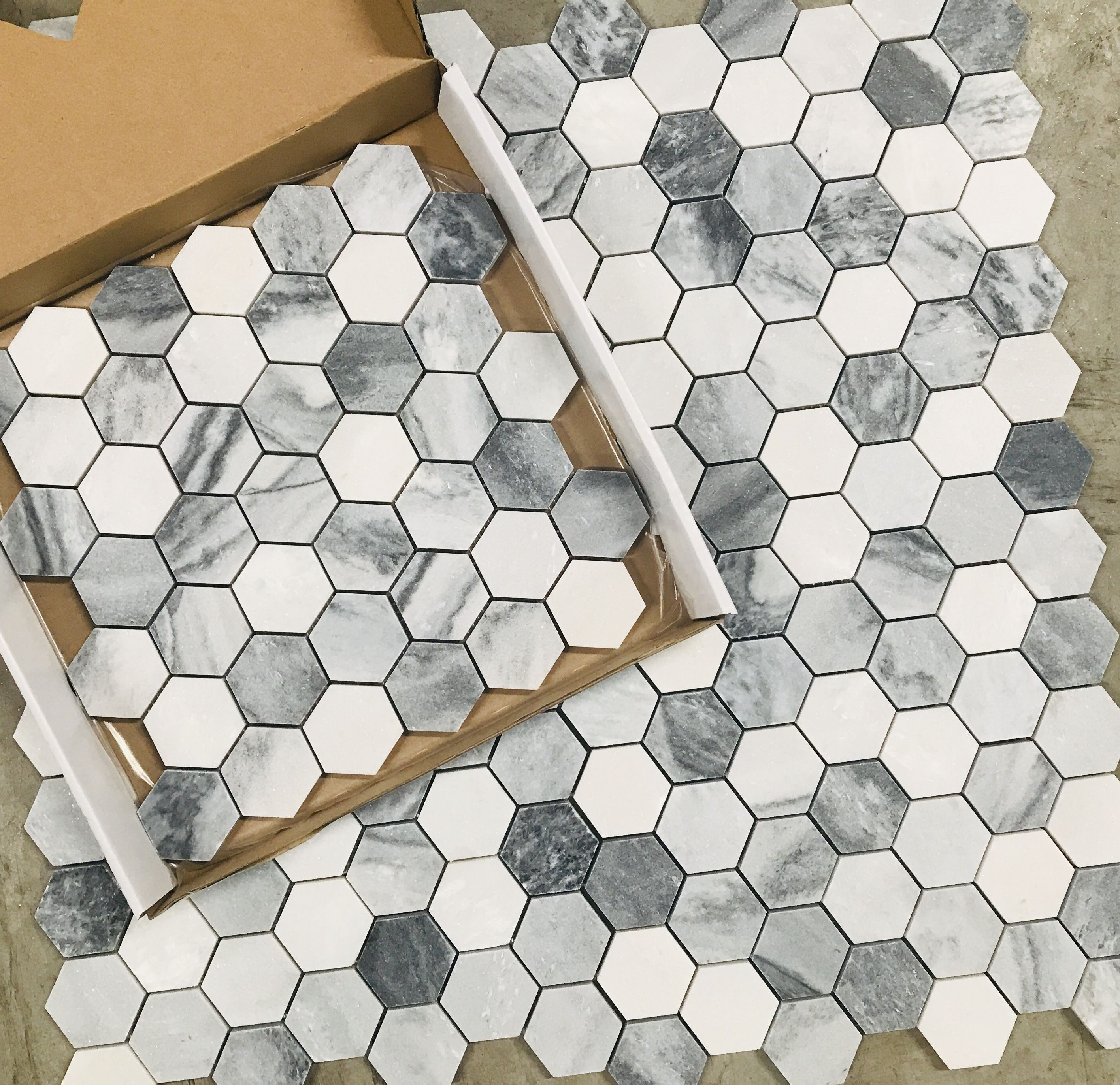 9 95 A Square Foot And Free Shipping Shades Of Gray Hexagon Marble In 2020 Hexagon Tile Floor Mosaic Flooring Wall Tiles Price