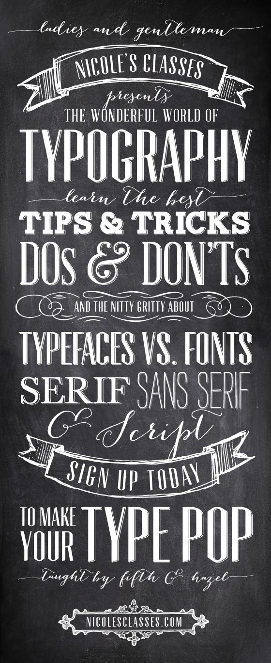 Typography class on sale @nicolesclasses!