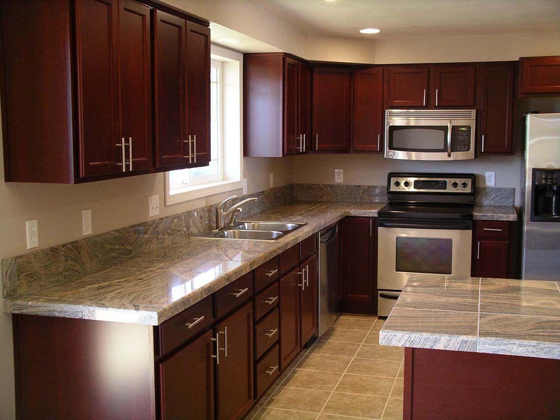 Best Granite Cherry Cabinets Kitchen Kitchen After Remodel 400 x 300