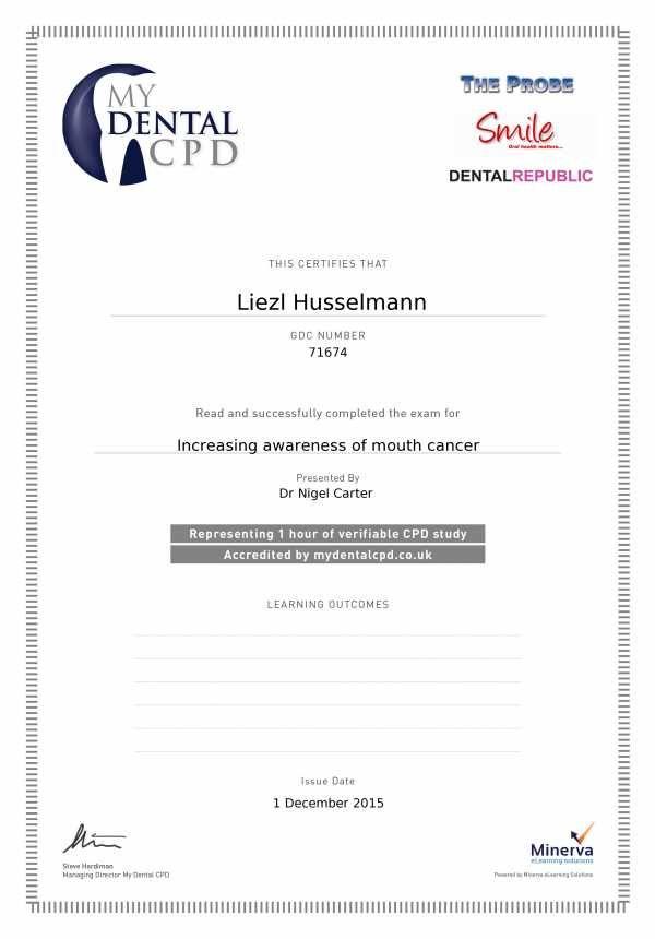 Claim Certificate My Dental Cpd My Cpd Certificate Dental