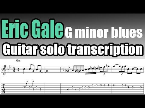 Eric Gale solo transcription on the G minor blues