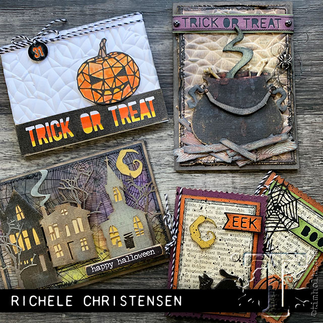 2019 sizzix chpt. 3 halloween Halloween cards handmade