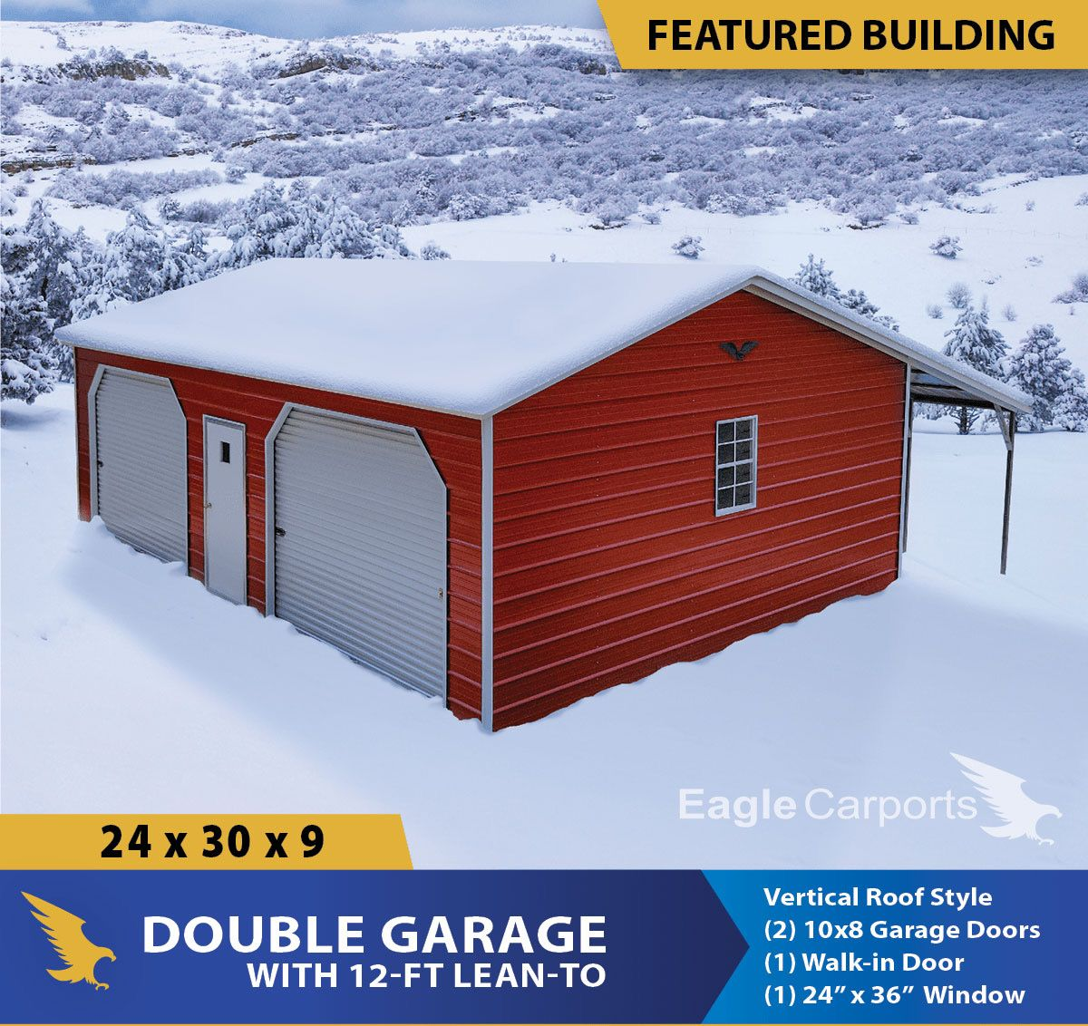 This week's featured building 24x30x9 Vertical Roof