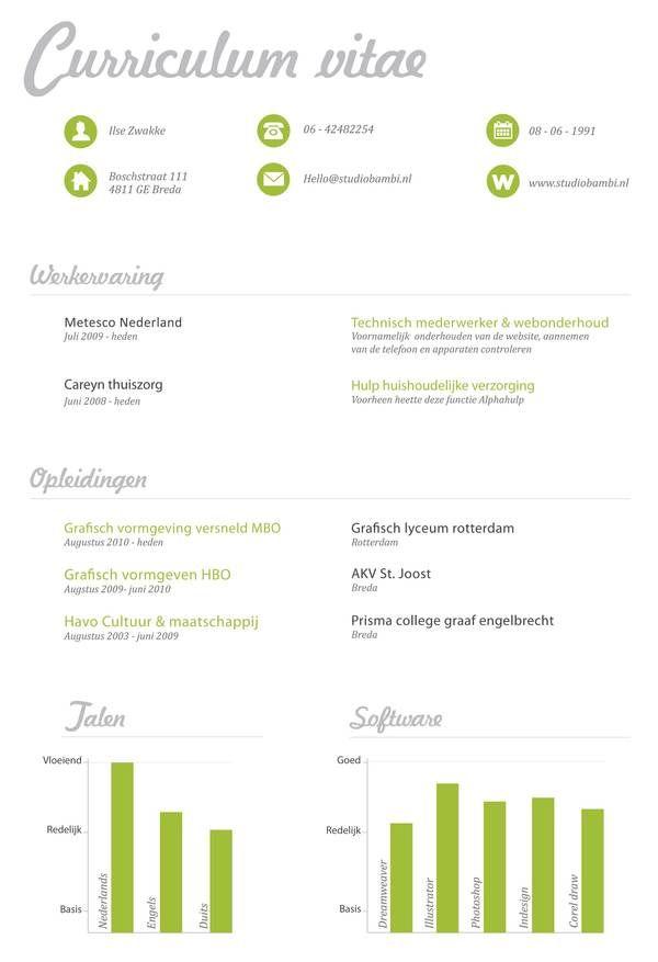 Curriculum vitae on Behance design   inspiration Pinterest - resume vitae