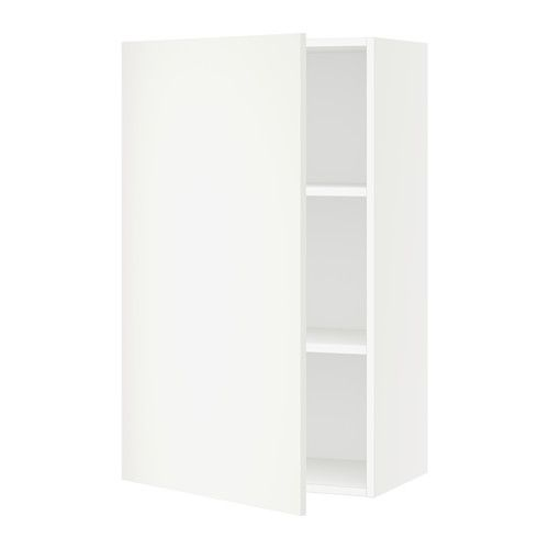 SEKTION Wall cabinet with 2 doors, white, Häggeby white | Doors ...