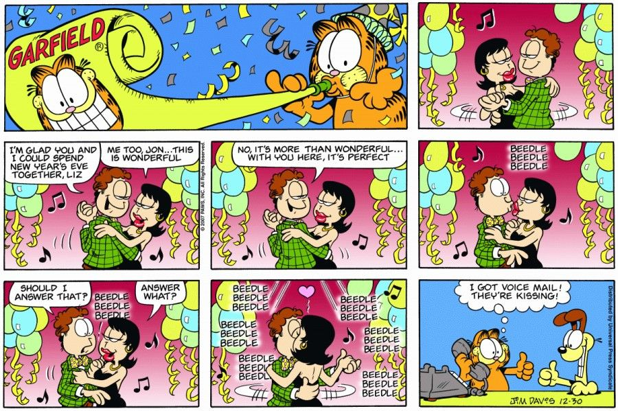 The Garfield Daily Comic Strip For December 30th 2007 Garfield Comics Comic Strips Garfield Cartoon