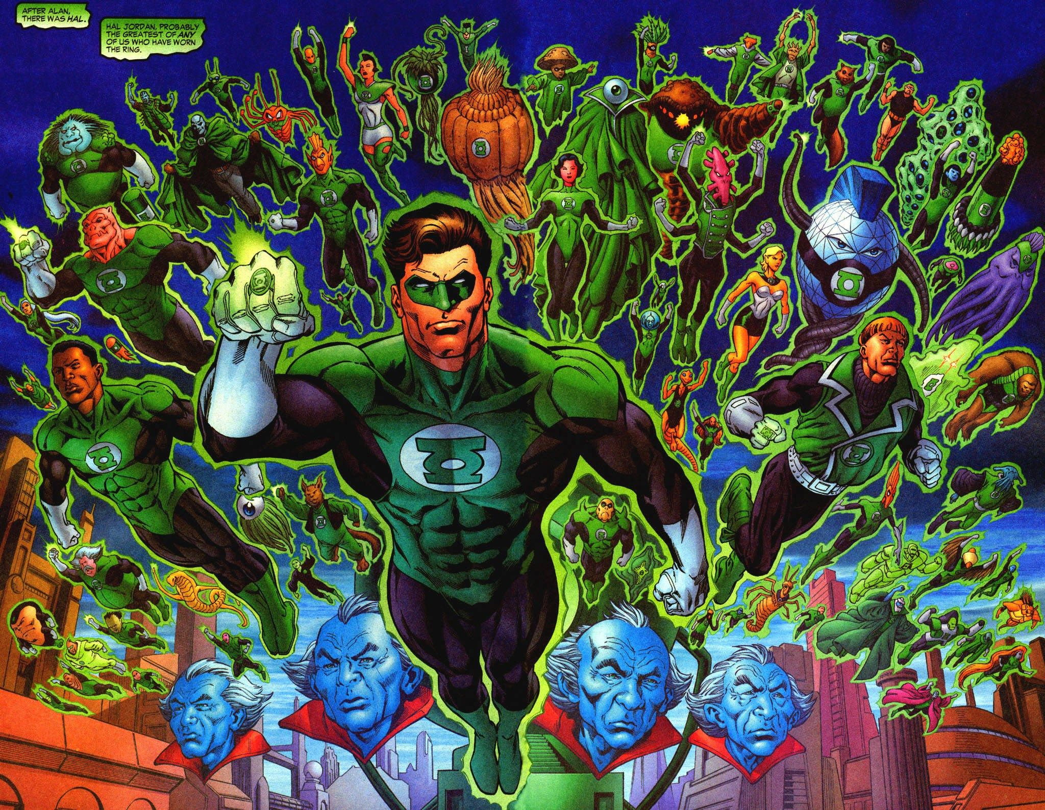 X Beautiful Green Lantern Corps