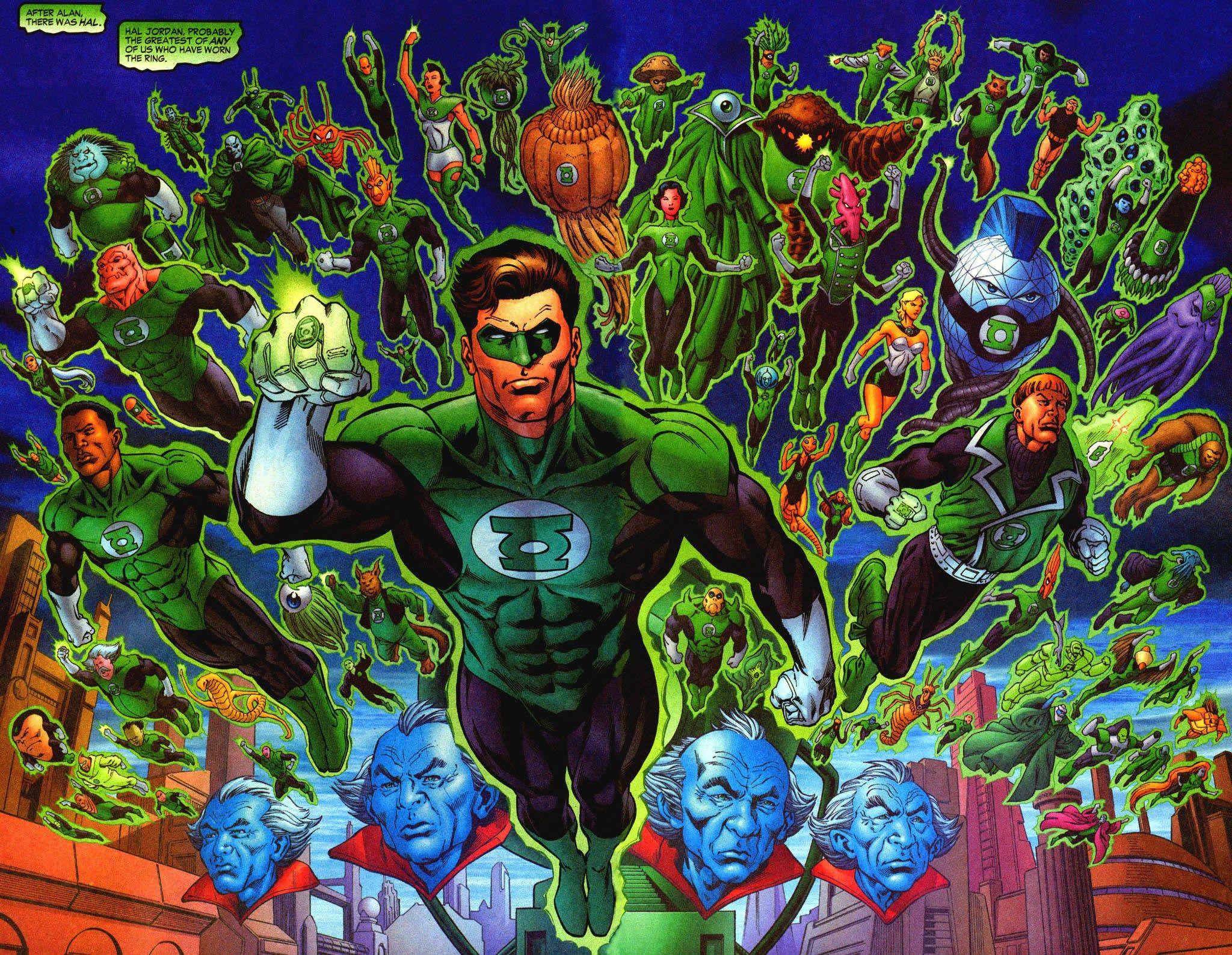 X Beautiful Green Lantern Corps