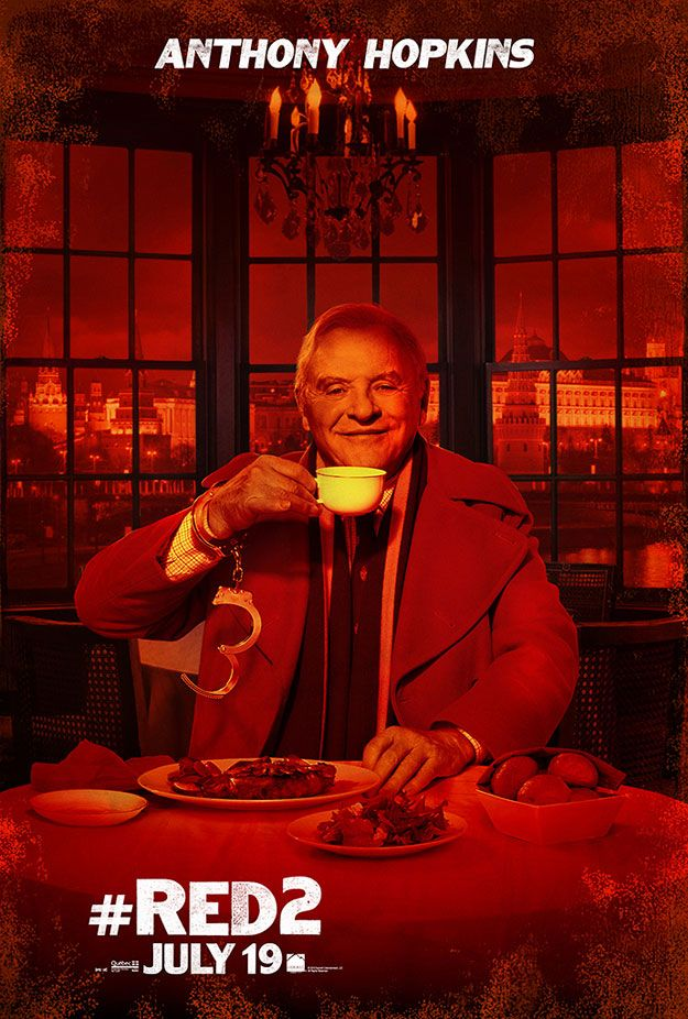 Anthony Hopkins And Byung Hun Lee Grace The Latest Red 2 Posters