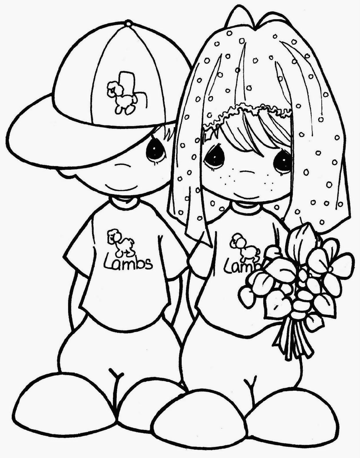 precious moments coloring pages wedding free