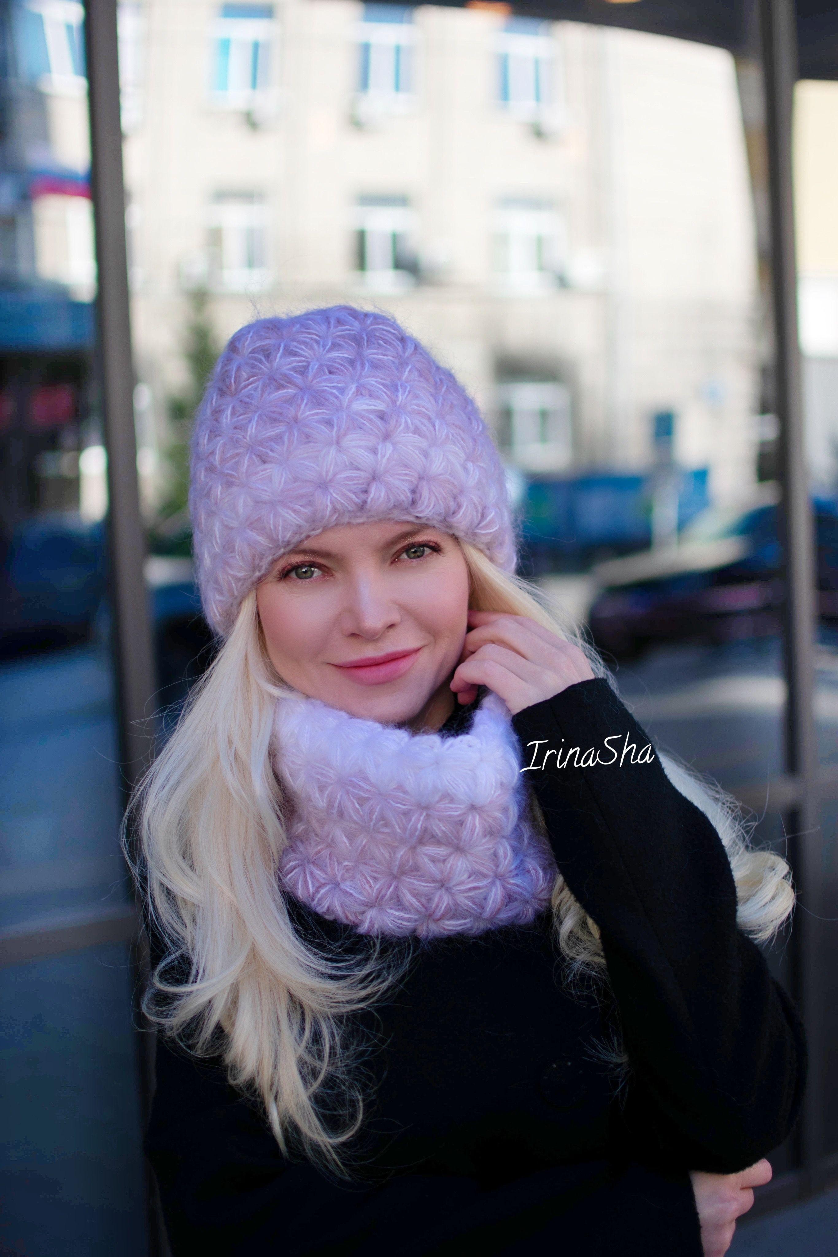 Hats, Мохеровая Шапка Звздочка Крючком, Мастер Класс По -4307