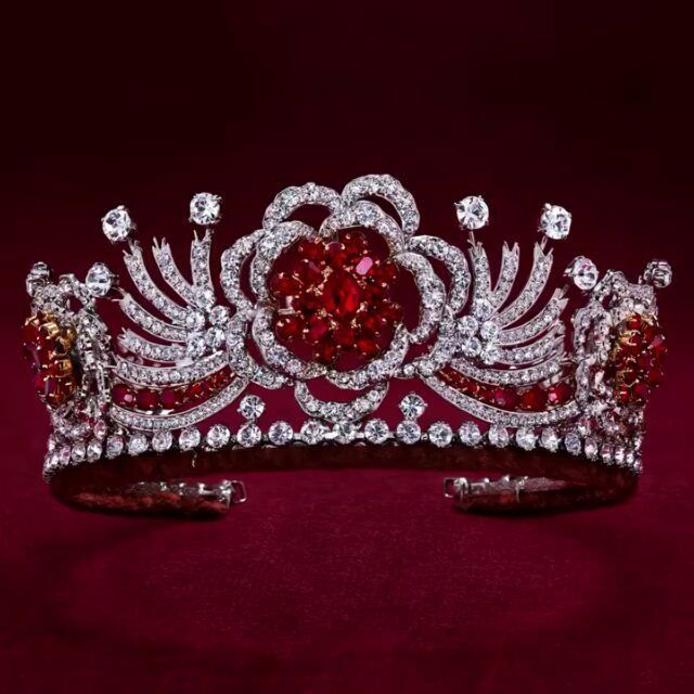 """The Royal Family on Instagram: """"The Queen's Burmese Ruby Tiara is one of the most symbolic and personal pieces created for Her Majesty by the House of Garrard. . ◼  The 96…"""",  #Burmese #Created #Family #Garrard #House #Instagram #Majesty #personal #Pieces #Queens #Royal #Ruby #rubyjewelryroyaljewels #symbolic #Tiara"""
