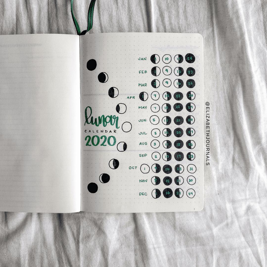 Amandas Green and Blue Themed Bullet Journal PWM