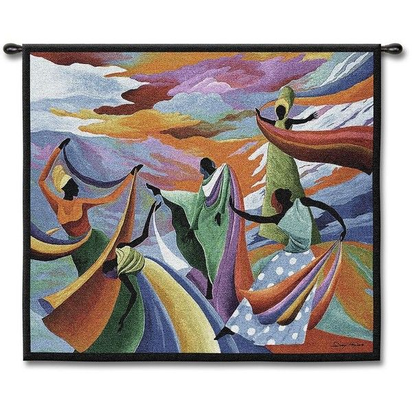 Dancing In Heaven 53 Wide Wall Tapestry Fine Art Tapestries African Paintings Art