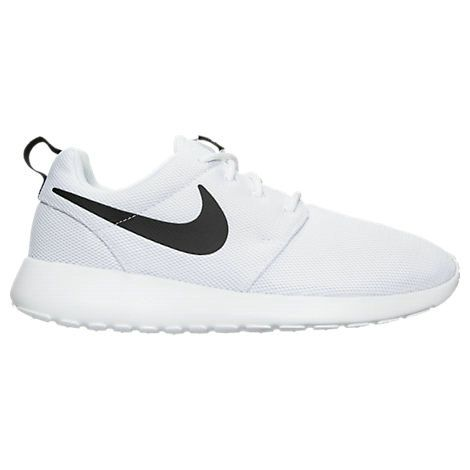 07ee3e35403d Young Big Boys Nike Roshe One White black 844994 101