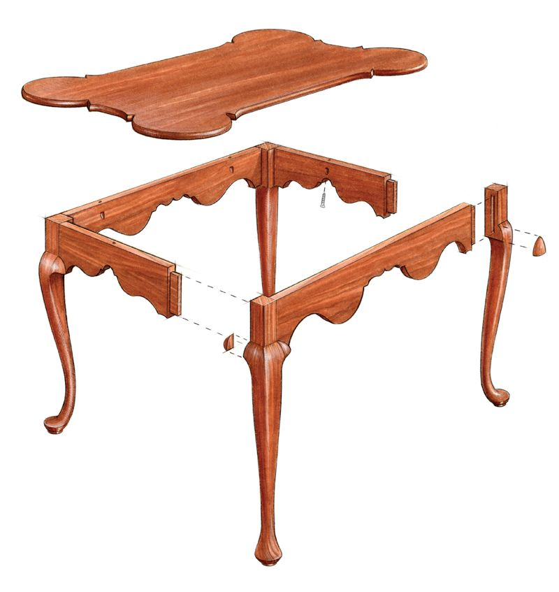 Free Plan Porringer Style Tea Table Finewoodworking Wood Furniture Legs Colonial Furniture Wood Carving Furniture