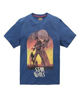 This Star Wars sunset poster T-shirt is perfect for the avid Star Wars fan. Get into character and stand out from the crowd.      Product available in sizes: M (40/42) L (44/46) XL (48/50) 2XL (52/54) 3XL (56/58) 4XL (60/62) 5XL (64/66).     Machine washable.     Cotton.     Available in: Navy