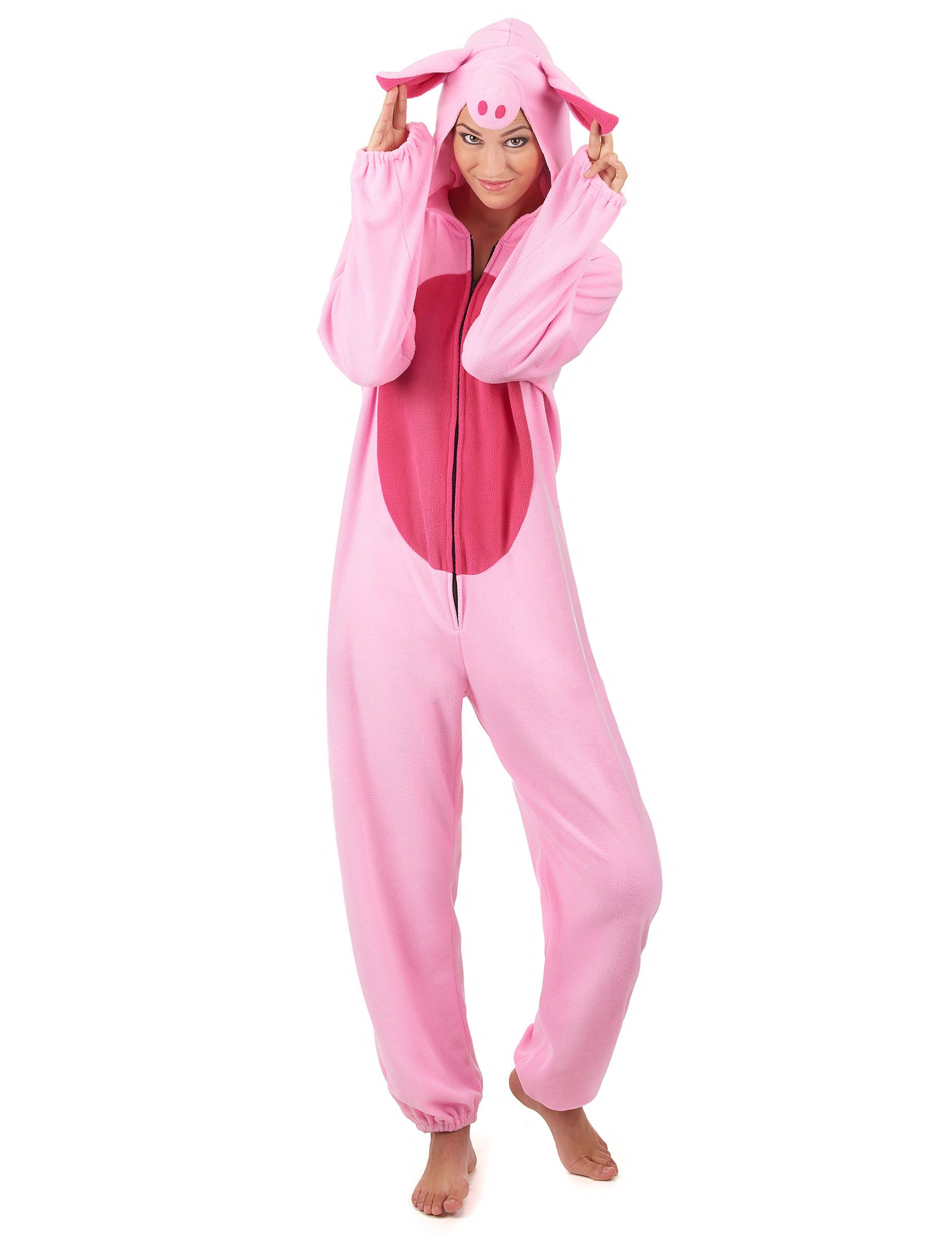 Disfraz cerdo mujer | Color rosa claro, Disfraces de animales y ...