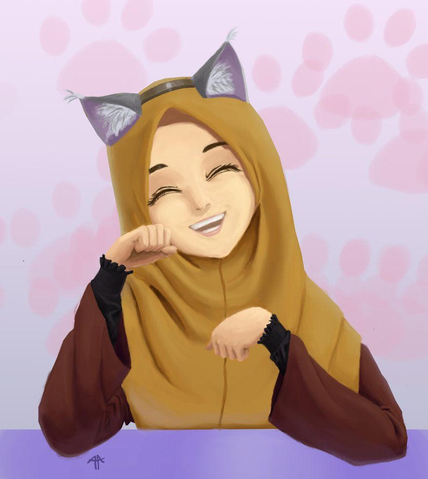 Wolf hijabi if they tried to hurt people with wolf stuff then this will repair the situation - Femme chat manga ...
