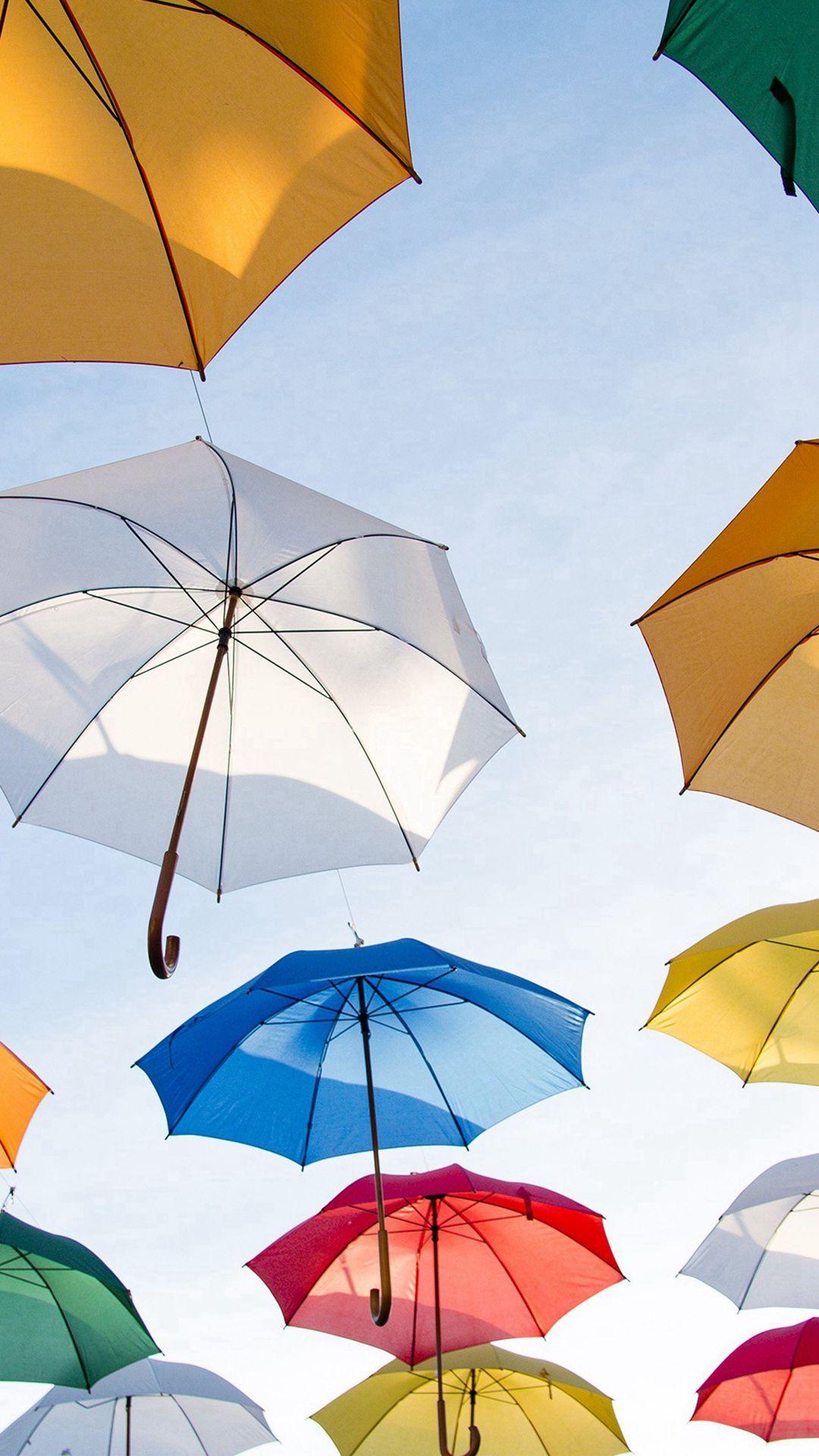 Wallpaper iphone umbrella - Umbrella Rainbow Color Art Iphone 6 Wallpaper
