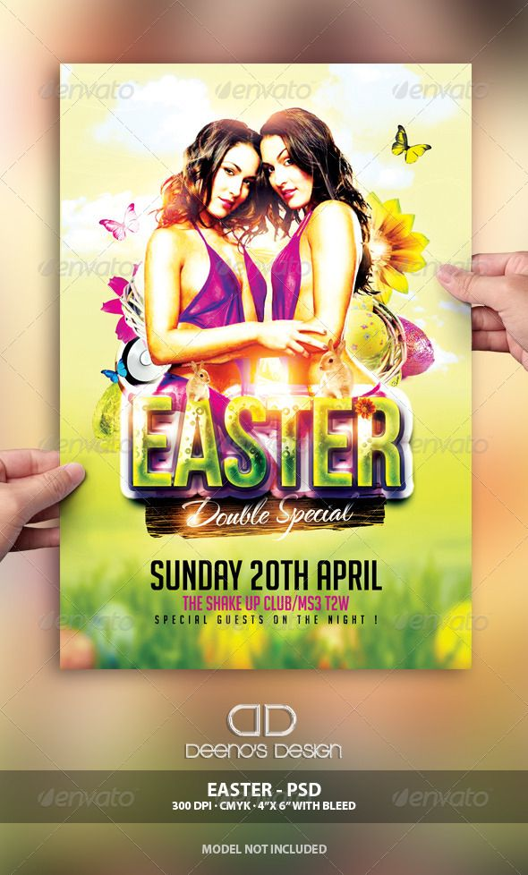 EASTER FLYER - - 1 psd file - Print Ready - (425in, 625 Bleed