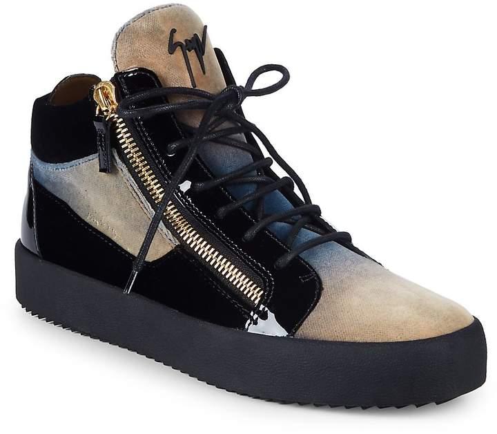 8ca20a01d5 Giuseppe Zanotti Men s Felt Tonal High-Top Sneakers