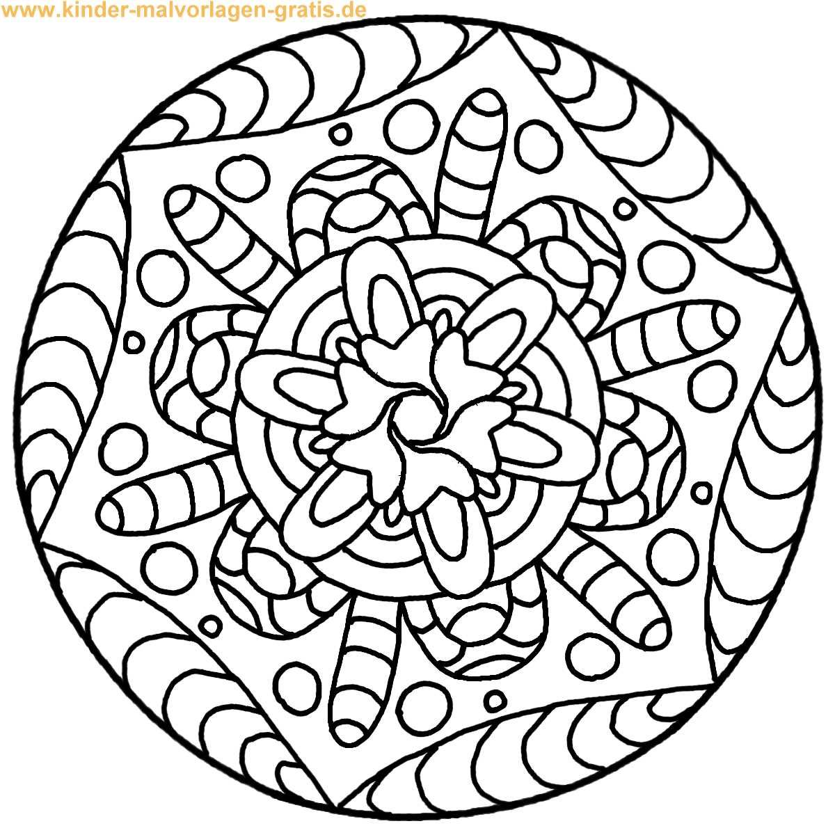 Malvorlage Mandala für Kinder | Coloring | Pinterest | Mandalas
