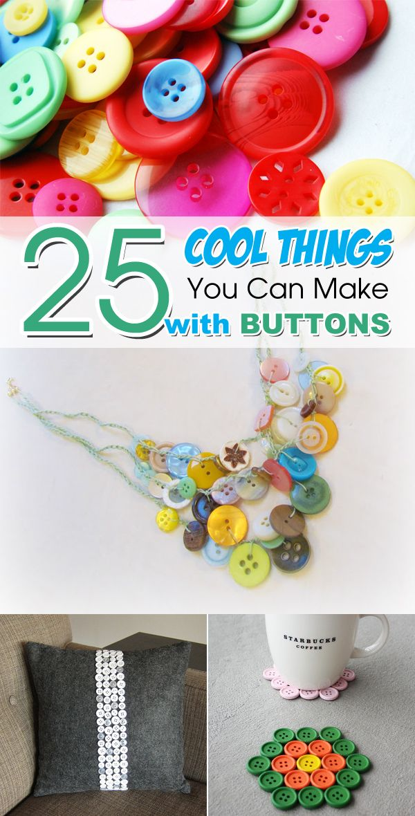 25 Cool Things You Can Make With Buttons Buttons Button Crafts
