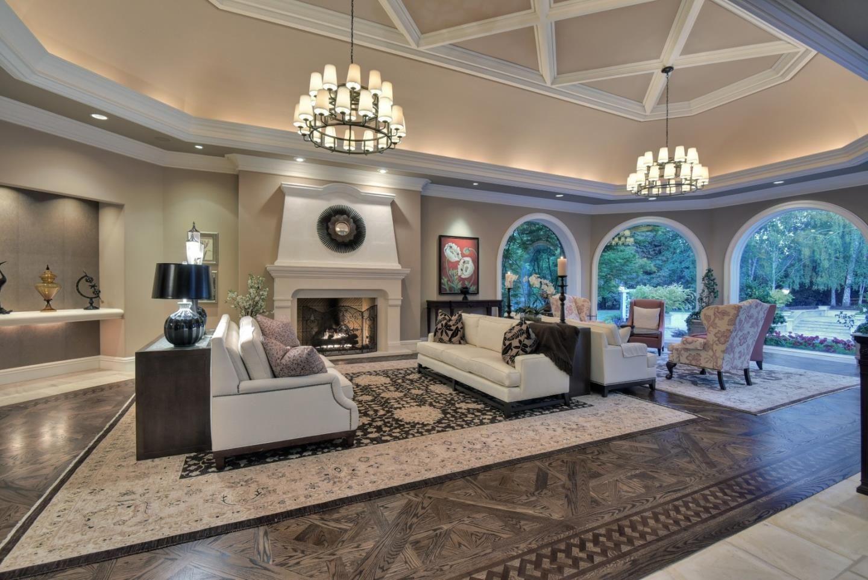Billionaire Jeff Skoll Selling 20m Mansion In Los Altos Hills Mansion Living Room Mansion Living Luxury Living Room