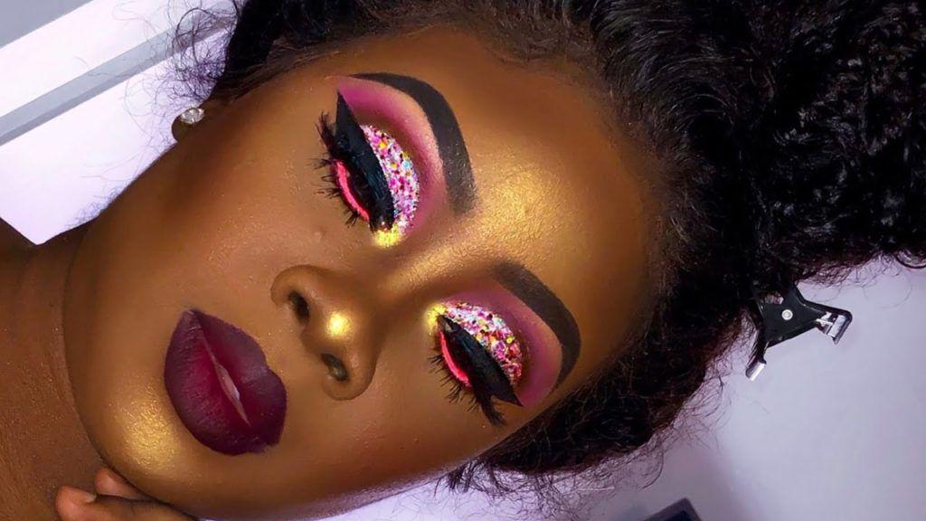 Captivating Makeup Tutorials For Dark Skin Glitter Makeup Tutorial Dark Skin Makeup Tutorial Skin Makeup