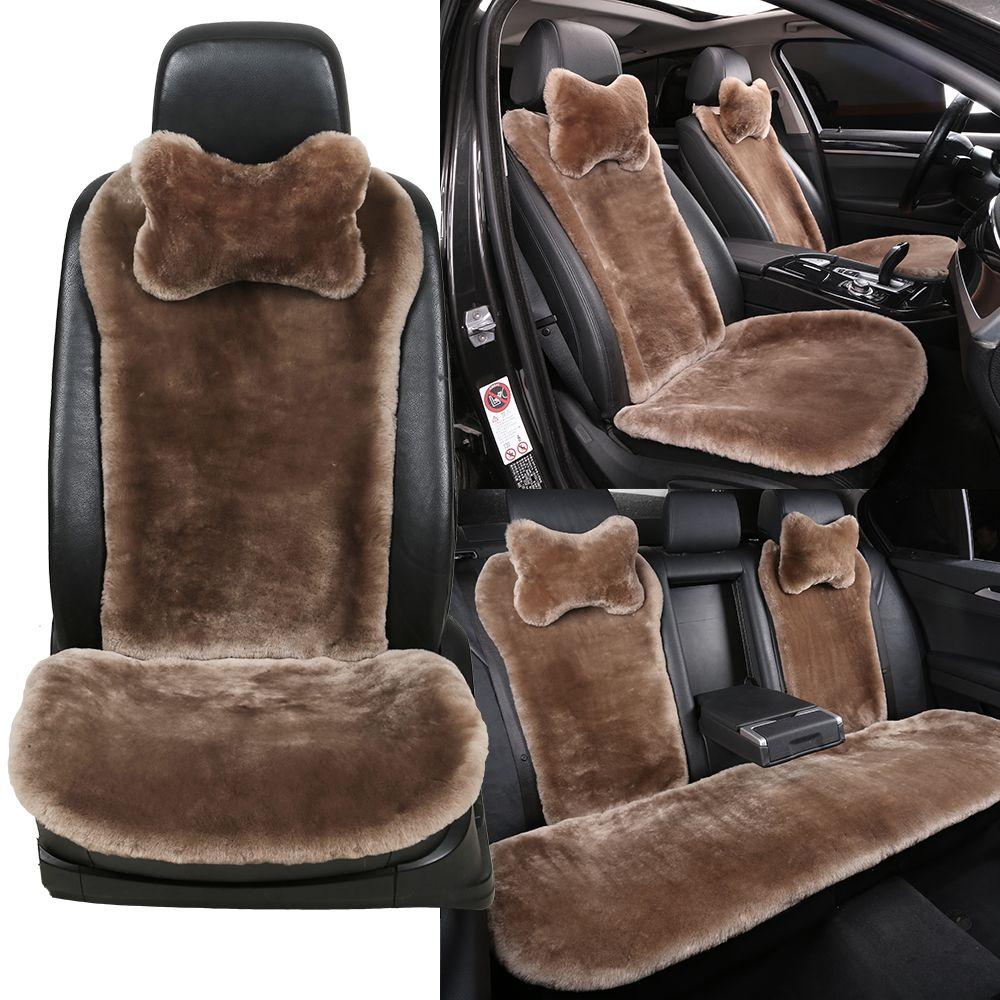 100 natural fur sheepskin universal car seat covers for